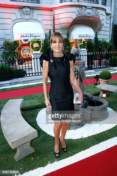 Patricia D'arenberg attends the Re Opening of Salvatore Ferragamo Boutique at Avenue Montaigne on July 5 2016 in Paris France