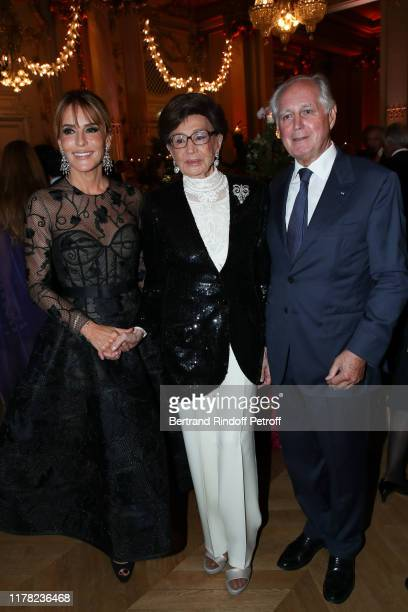 Patricia d'Arenberg Countess Jacqueline de Ribes and Jean Louis Milin attends the Societe Des Amis Du Musee D'Orsay Dinner Party Hosted By Countess...