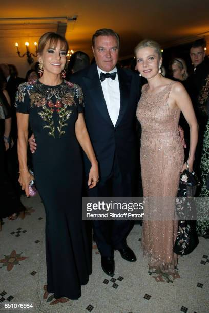 Patricia d'Arenberg Duke of Castro Charles de Bourbon des DeuxSiciles and Wife of Italy's Ambassador to France Giada Magliano attend the Opening...