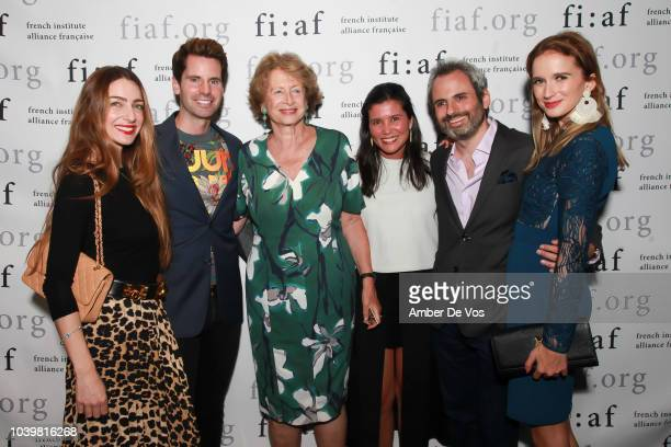 Patricia de Picciotto James G Brooks Marie Monique Steckel Stephanie Arsham Nicholas Coblence and Kristin Simmons attend the FIAF's Young Patrons...