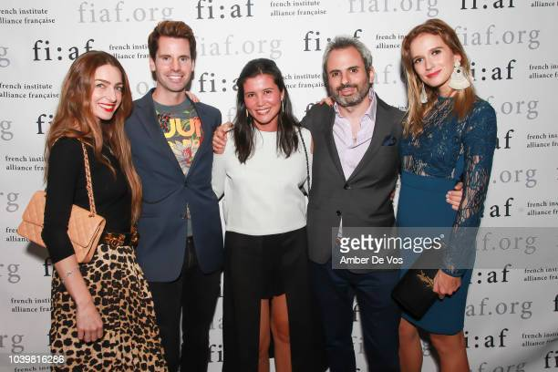 Patricia de Picciotto James G Brooks Stephanie Arsham Nicholas Coblence and Kristin Simmons attend the FIAF's Young Patrons Fall Fete at FIAF on...