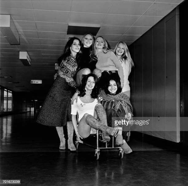 Patricia 'Dee Dee' Wilde and the rest of the dance troupe Pan's People arrive at London Airport from Munich 6th November 1971