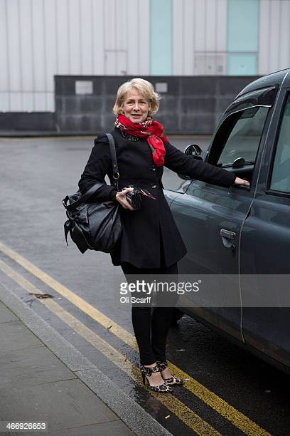 Patricia 'Dee Dee' Wilde who performed with Pan's People on Top of the Pops arrives at Southwark Crown Court to give evidence in the trial of radio...