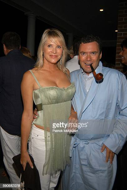 Patricia Duff and Arthur Altschul Jr attend An Evening at the Playboy Mansion for Dinner and Dancing Hosted by Marcia and Richard Mishaan at Playboy...