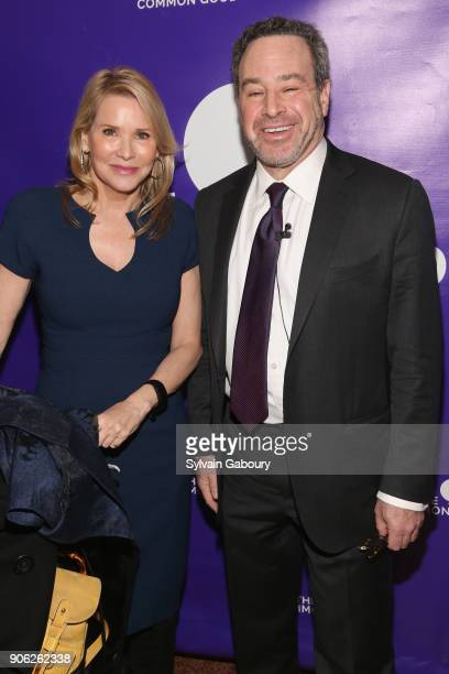 Patricia Duff and David Frum attend Trump Year One Presidential Panel on January 17 2018 in New York City