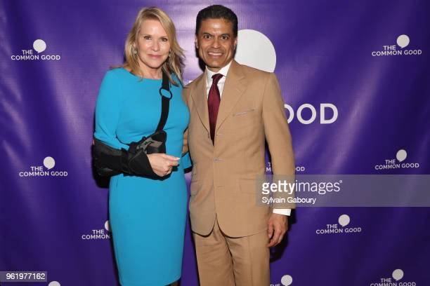 Patricia Duff and Fareed Zakaria attend The Common Good Forum American Spirit Awards 2018 at The Common Good Forum on May 21 2018 in New York City...