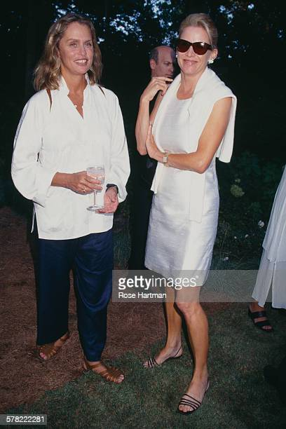 Patricia Duff and Lauren Hutton attend the annual art benefit for Wilson's Long Island art center Watermill New York 2007