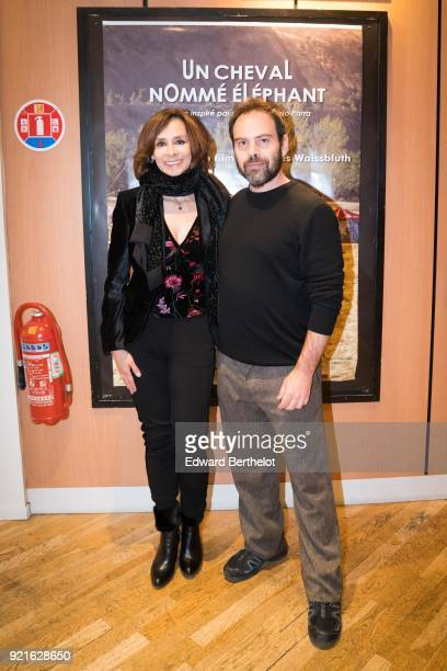 Patricia Ercole Colombian actress and Andres Waissbluth Chilean film director are seen during the Un caballo llamado Elefante Un Cheval Nomme...