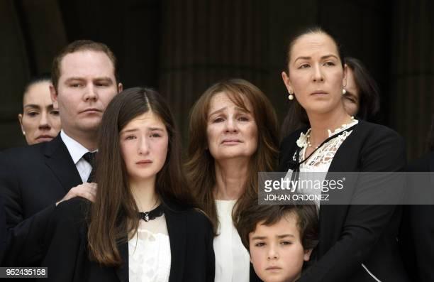 Patricia Escobar widow of former Guatemalan President and Guatemala City Mayor, Alvaro Arzu, and Alvaro Arzu Escobar , President of the National...