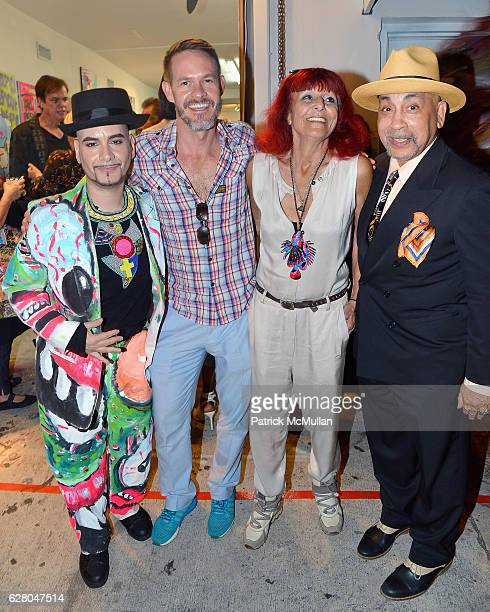 Patricia Field and Guests attend the Patricia Field Art Basel Debut with Art Fashion Pop Up and Runway Presentation at The White Dot Gallery in...