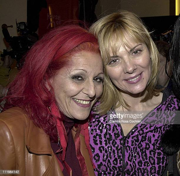 Patricia Field and Kim Cattrall during Launch Party for Patricia Field House of Field at Henri Bendel at Henri Bendel in New York City New York...