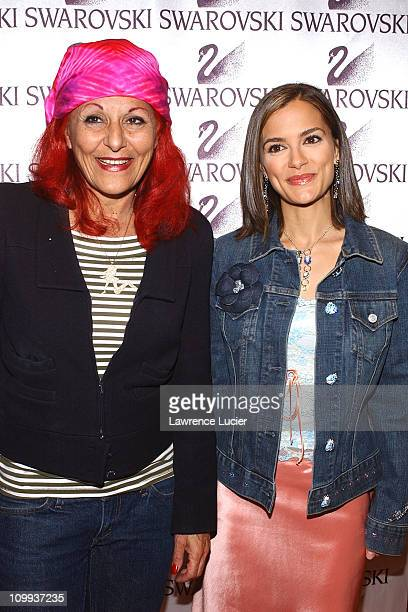 Patricia Field and Rebecca Budig during All My Children Stars Appear at Celebrity Heartthrobs Crystallize Denim Program Launch To Benefit The...