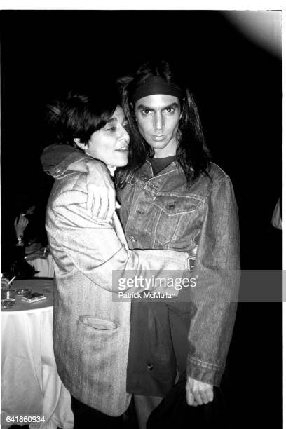 Patricia Field and Steven Meisel at Perri Lister's party at Limelight January 1985