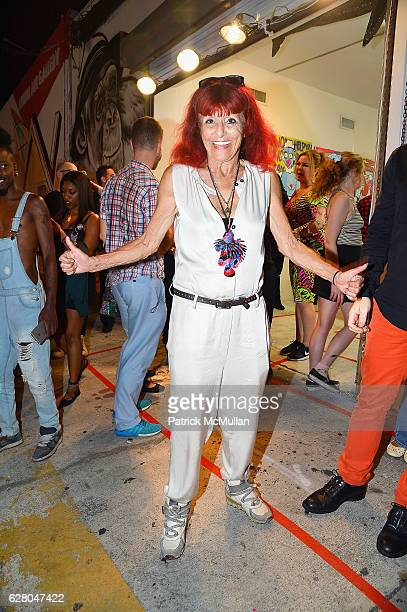 Patricia Field attends Patricia Field Art Basel Debut with Art Fashion Pop Up and Runway Presentation at The White Dot Gallery in Wynwood on December...