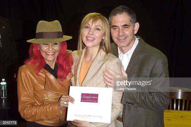 Patricia Field costume designer joins Sex In The City star Kim Cattrall and husband Mark Levinson signing SATISFACTION THE ART OF THE FEMALE ORGASM...