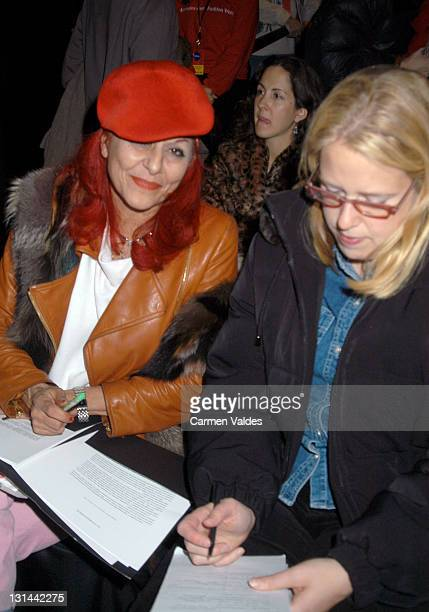 Patricia Field during MercedesBenz Fashion Week Fall 2003 Collections BCBG / Max Azria Front Row at The Studio Bryant Park in New York NY United...