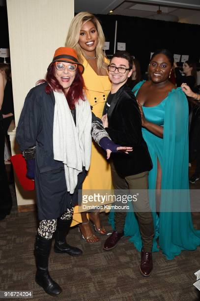 Patricia Field Laverne Cox Christian Siriano and Danielle Brooks attend the Christian Siriano fashion show during New York Fashion Week at Grand...