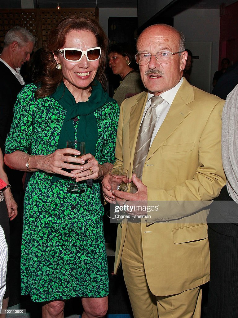 Patricia Forelle and filmmaker Volker Schloendorff attend the reception after the screening of 'The Making of 'Last Year at Marienbad' hosted by Diane von Furstenberg and Bernard-Henri Levi to benefit La Maison Francaise at New York University at Diane Von Furstenberg Gallery on May 20, 2010 in New York City.