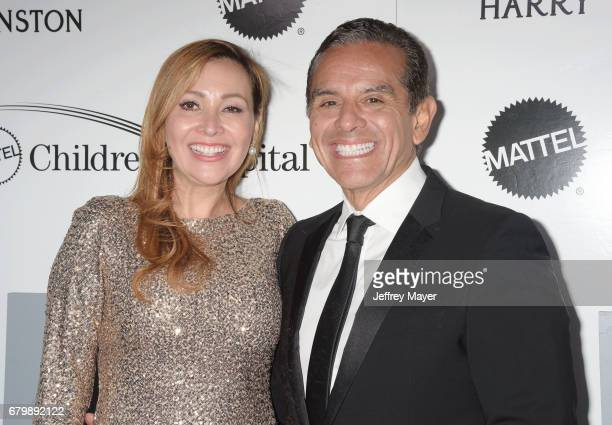 Patricia Govea and Antonio Villaraigosa attend the UCLA Mattel Children's Hospital's Kaleidoscope 5 at 3LABS on May 06 2017 in Culver City California