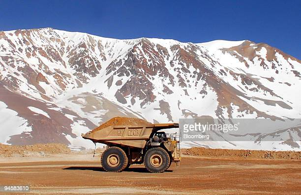 Patricia Guajardo drives a mining truck carrying gold and silver bearing ore at Barrick Gold Corp's Veladero mine in the San Juan province of...