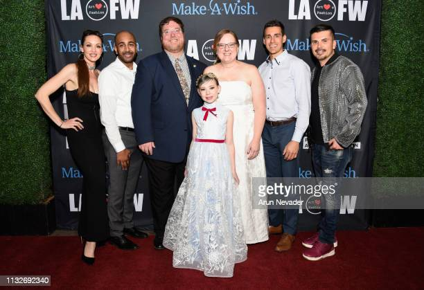 Patricia Hartmann Zee Atherton Philip Hobson Mira Hobson Mary Hobson Jamie Sandys and Erik Rosete at Los Angeles Fashion Week FW/19 Powered by Art...
