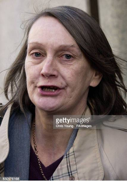Patricia Hastings the mother of Barry Lee Hastings leaves the Old Bailey after seeing her son receiving a five year sentence for manslaughter of...