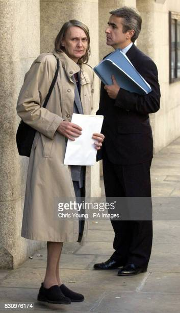 Patricia Hastings the mother of Barry Lee Hastings outside the Old Bailey with the family solicitor Anthony Bramley after seeing her son handed a...