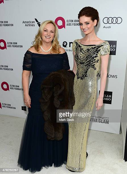 Patricia Hearst and actress Lydia Hearst attend the 22nd Annual Elton John AIDS Foundation's Oscar Viewing Party on March 2 2014 in Los Angeles...