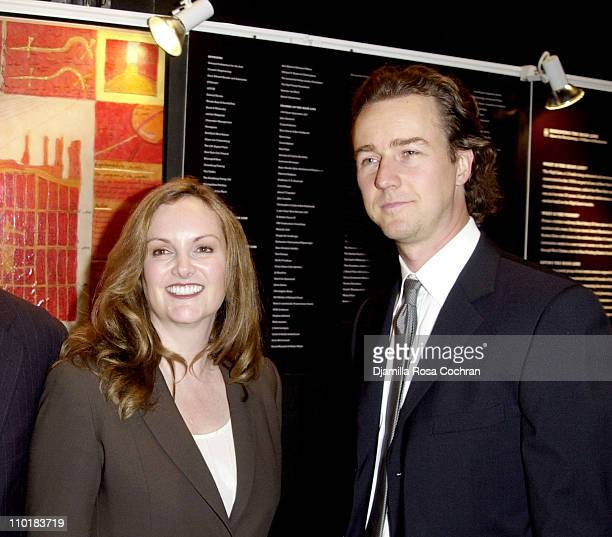 Patricia Hearst and Benefit Co-Chair Edward Norton