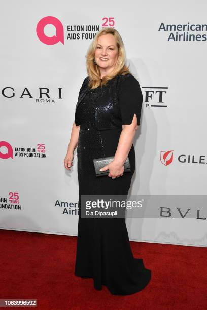 Patricia Hearst arrives on the red carpet at the Elton John AIDS Foundation's 17th Annual An Enduring Vision Benefit at Cipriani 42nd Street on...