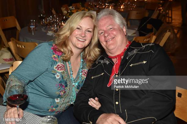 Patricia Hearst Shaw and Jamie Figg attend Hearst Castle Preservation Foundation - Patron Cowboy Cookout at Hearst Ranch on September 29, 2018 in San...