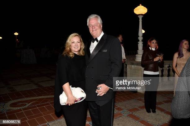 "Patricia Hearst Shaw and Jamie Figg attend Hearst Castle Preservation Foundation Benefit Weekend ""James Bond 007 Costume Gala"" at Hearst Castle on..."