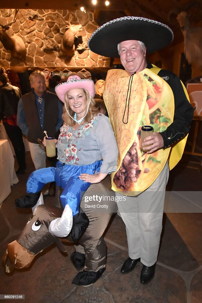 Patricia Hearst Shaw and Jamie Figg attend Hearst Castle Preservation Foundation Annual Benefit Weekend 'Hearst Ranch Patron Cowboy Cookout' at Hearst Dairy Barn on September 30, 2017 in San Simeon, CA.