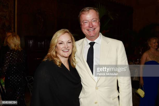 "Patricia Hearst Shaw and Paul Beirne attend Hearst Castle Preservation Foundation Benefit Weekend ""James Bond 007 Costume Gala"" at Hearst Castle on..."