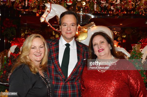Patricia Hearst Shaw George Farias and Alison Mazzola attend George Farias Anne Jay McInerney Host A Holiday Party at The Doubles Club on December 13...
