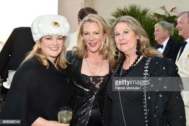 "Patricia Hearst Shaw, Suzanne Tucker and Wendy Stark attend Hearst Castle Preservation Foundation Benefit Weekend ""James Bond 007 Costume Gala"" at..."