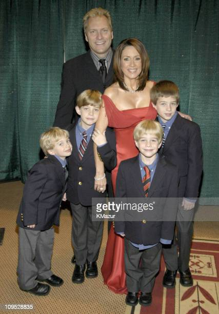 Patricia Heaton and Family during TNT's Christmas in Washington Concert Backstage at The National Building Museum in Washington DC United States