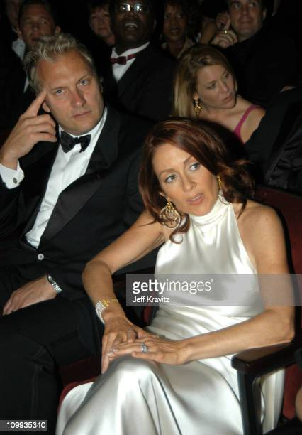 Patricia Heaton and husband David Hunt during 55th Annual Primetime Emmy Awards Backstage and Audience at The Shrine Auditorium in Los Angeles...