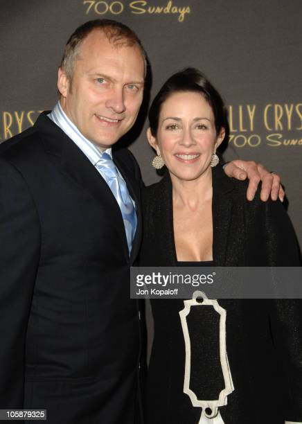 """Patricia Heaton and husband David Hunt during Billy Crystal's """"700 Sundays"""" Los Angeles Opening Night - Arrivals at Wilshire Theatre in Beverly..."""