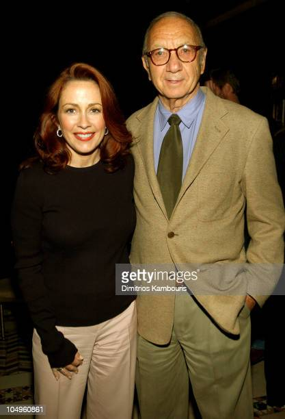 Patricia Heaton and Neil Simon during 2003/2004 TNT/TBS Superstation UPFront Event at Cipriani 42nd Street in New York City New York United States