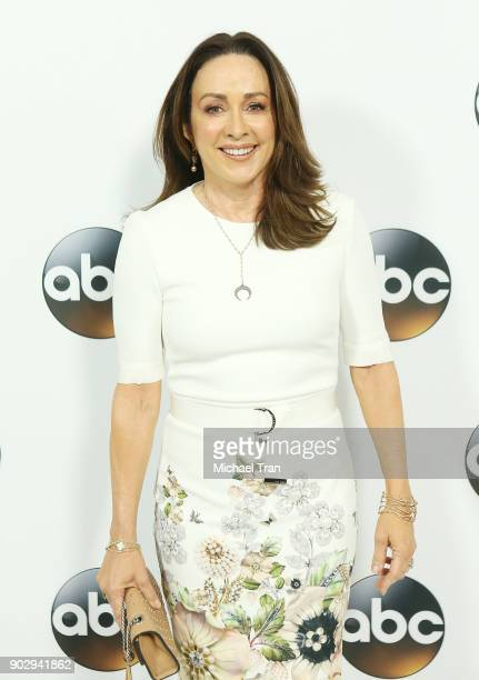 Patricia Heaton attends the Disney ABC Television Group hosts TCA Winter Press Tour 2018 held at The Langham Huntington on January 8 2018 in Pasadena...
