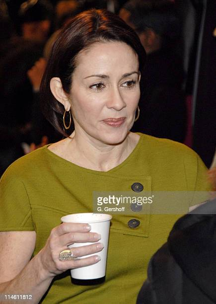 Patricia Heaton backstage at Bill Blass Fall 2007 during MercedesBenz Fashion Week Fall 2007 Bill Blass Front Row and Backstage at The Tent Bryant...
