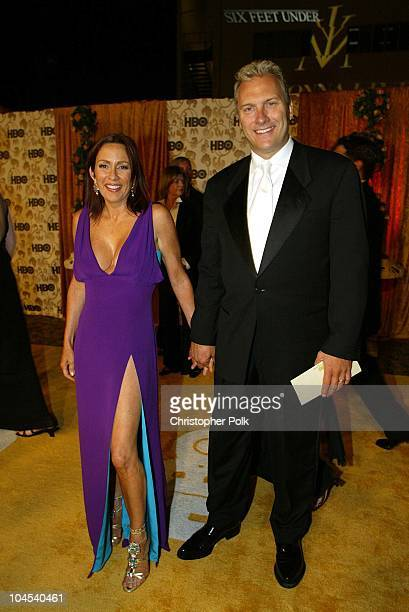Patricia Heaton David Hunt during The 54th Annual Primetime Emmy Awards HBO Post Party at Spago's in Los Angeles California United States