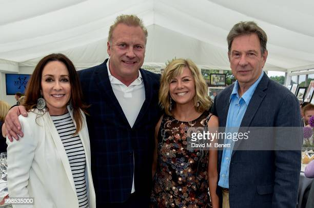 Patricia Heaton David Hunt Glynis Barber and Michael Brandon attend the Xerjoff Royal Charity Polo Cup 2018 on July 14 2018 in Newbury England