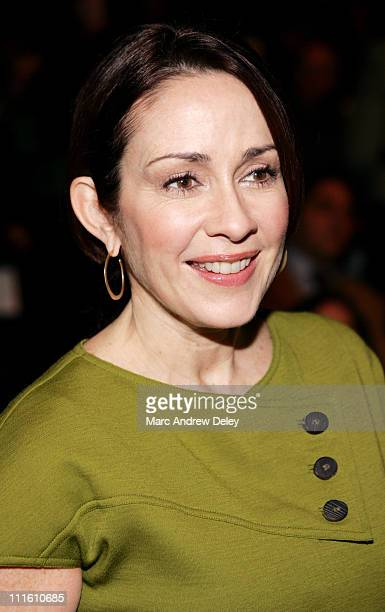 Patricia Heaton during MercedesBenz Fashion Week Fall 2007 Bill Blass Front Row and Backstage at The Tent Bryant Park in New York New York United...