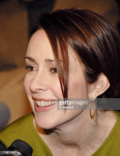 Patricia Heaton during MercedesBenz Fashion Week Fall 2007 Bill Blass Front Row and Backstage at The Tent Bryant Park in New York City New York...