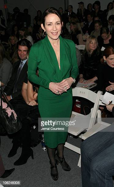 Patricia Heaton during MercedesBenz Fashion Week Fall 2007 Chaiken Front Row and Backstage at The Salon Bryant Park in New York City New York United...