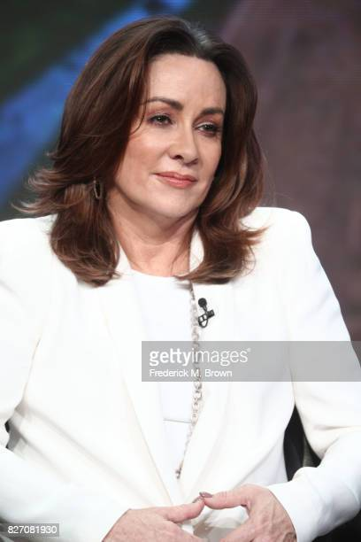 Patricia Heaton of The Middle speaks onstage during the Disney/ABC Television Group portion of the 2017 Summer Television Critics Association Press...
