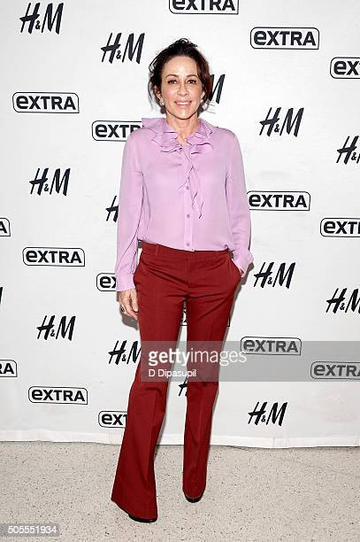 Patricia Heaton visits 'Extra' at their New York studios at HM in Times Square on January 18 2016 in New York City