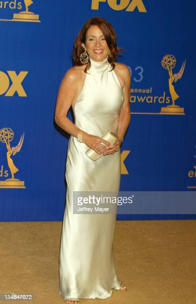 Patricia Heaton won for 'Everybody Loves Raymond' during The 55th Annual Primetime Emmy Awards Press Room at The Shrine Theater in Los Angeles...